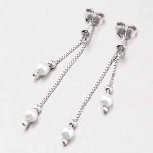 Visací náušnice s perličkami M6024PE4