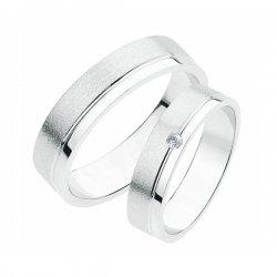 Stříbrné snubní prsteny SP-233-Ag