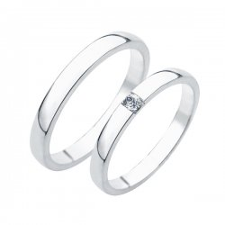 SP-230Ag Stříbrné snubní prsteny SP-230-Ag