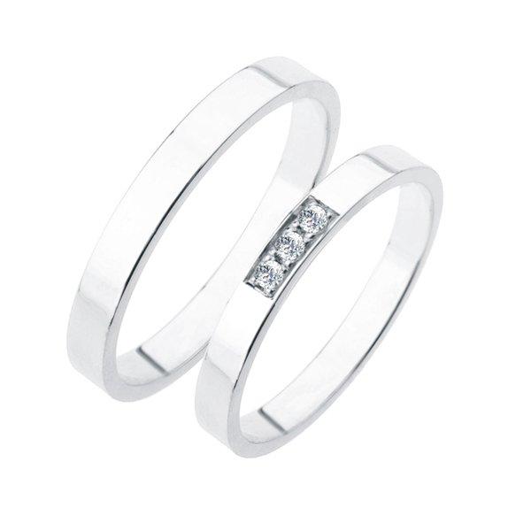 Stříbrné snubní prsteny SP-216-Ag