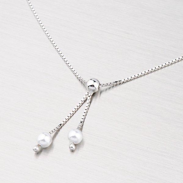 Stříbrný náhrdelník s perličkami M3009F