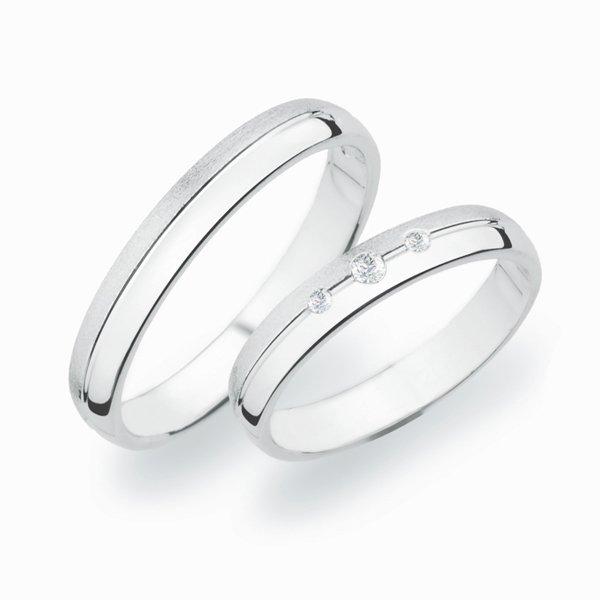 Stříbrné snubní prsteny SP-252-Ag