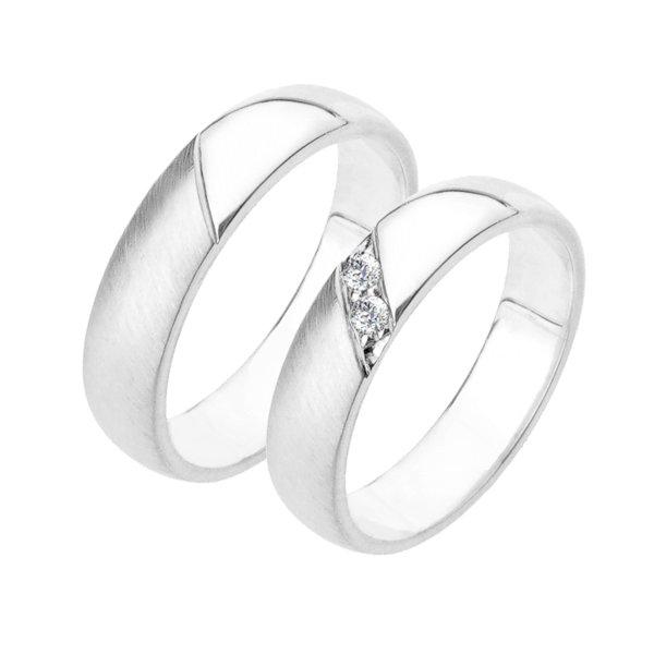 Stříbrné snubní prsteny SP-223-Ag