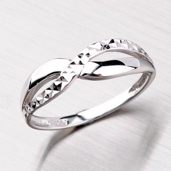 Rhodiovaný stříbrný prsten XXAR2646-DC-RD