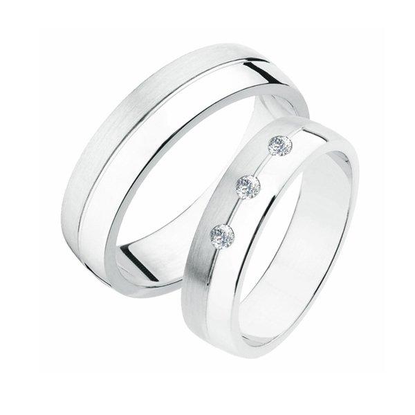 SP-236Ag Stříbrné snubní prsteny SP-236-Ag