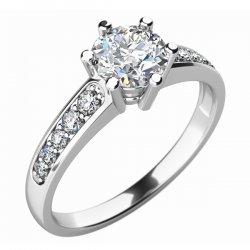 Zásnubní prsten se zirkony ZP-10747