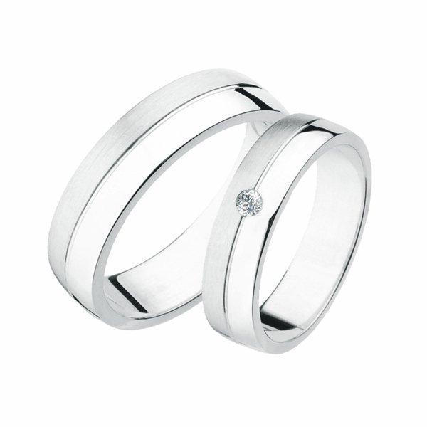 Stříbrné snubní prsteny SP-238-Ag