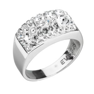 Stříbrný prsten s krystaly Swarovski bílý 35014.1 krystal 35014.1-001