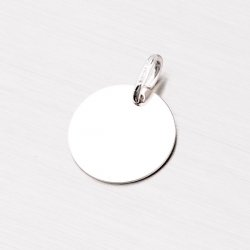 Stříbrný přívěsek - kulatá destička MPN5885A