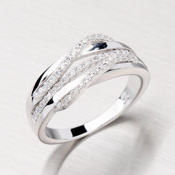 Stříbrný rhodiovaný prsten RXX02130080