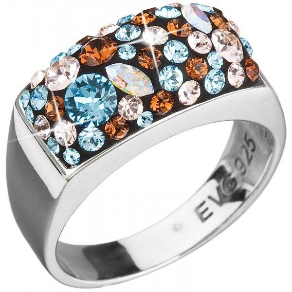 Prsten se Swarovski ELEMENTS 35014.3 AQUA