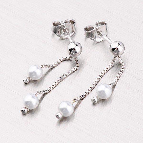 Náušnice s perlami M6092VFP