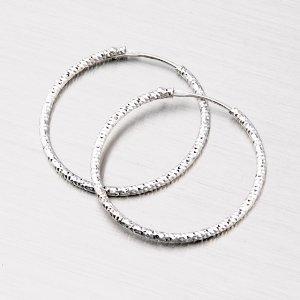 Stříbrné náušnice - kruhy 43 mm M8019ND150