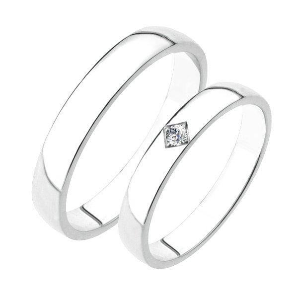 Stříbrné snubní prsteny SP-204-Ag