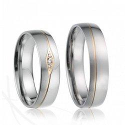 Ocelové snubní prsteny SP-7019