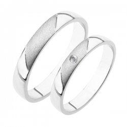 SP-207Ag Stříbrné snubní prsteny SP-207-Ag