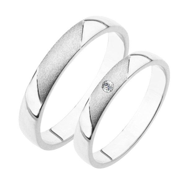 Stříbrné snubní prsteny SP-207-Ag