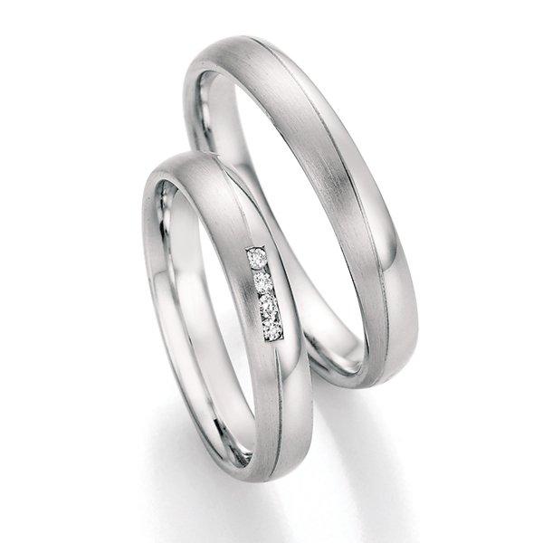 Snubní prsteny z oceli s diamanty SP-22130