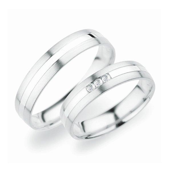 Stříbrné snubní prsteny SP-250-Ag