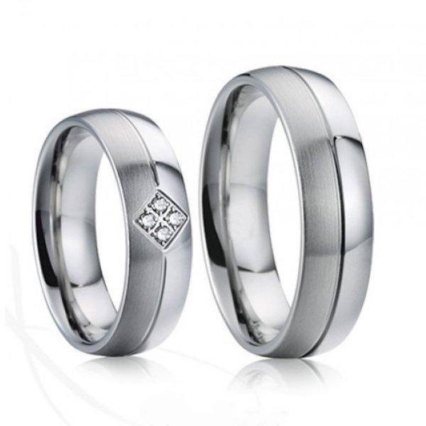 Ocelové snubní prsteny SP-7025