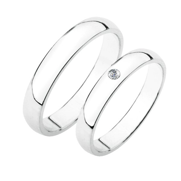 Stříbrné snubní prsteny SP-202-Ag