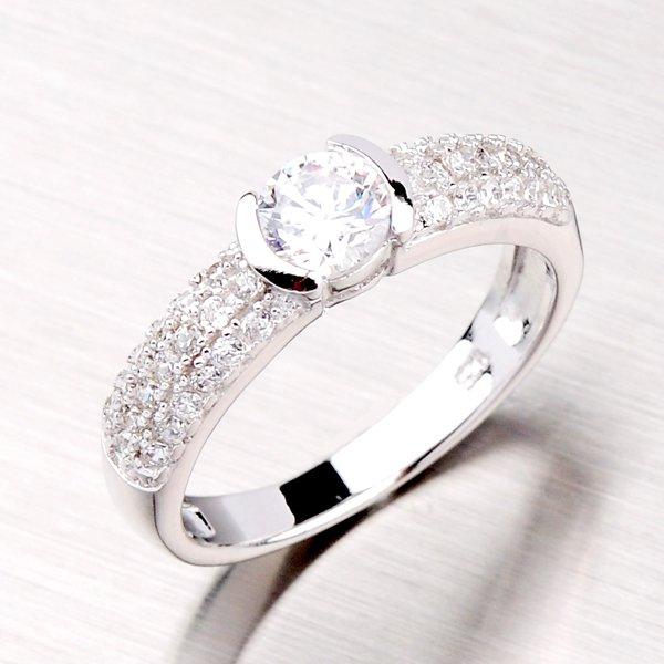 Rhodiovaný prsten ze stříbra RXB02130054