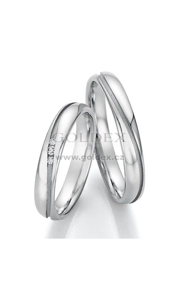 Snubni Prsteny Z Oceli S Diamanty Sp 22050 Goldex Cz