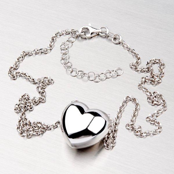 Stříbrný náhrdelník se srdcem YNG5008