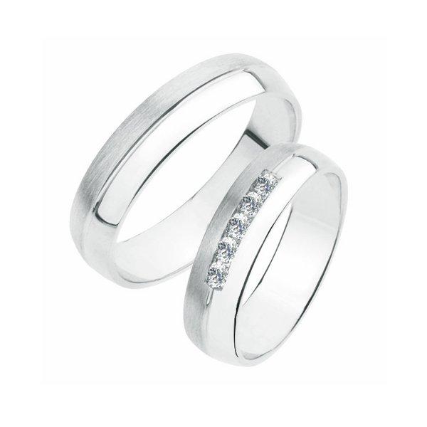 Stříbrné snubní prsteny SP-240-Ag