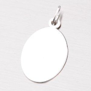 Oválná destička ze stříbra MPN5890A