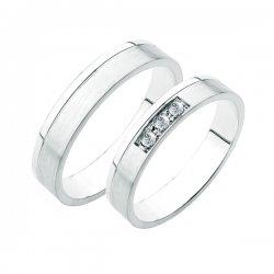 Stříbrné snubní prsteny SP-227-Ag