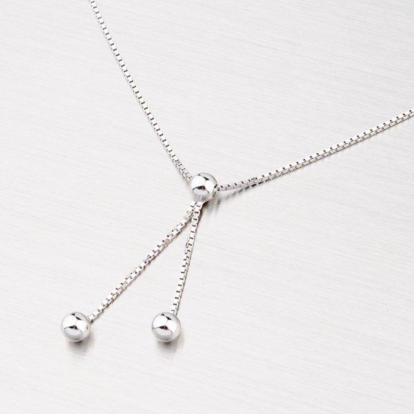 Stříbrný náhrdelník s kuličkami M3009E
