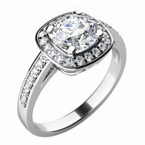 Zásnubní prsten se zirkony ZP-10766