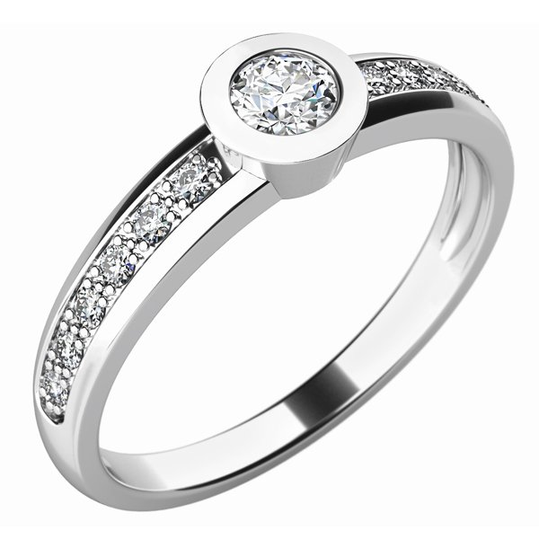 Zásnubní prsten s diamanty ZP-10746D