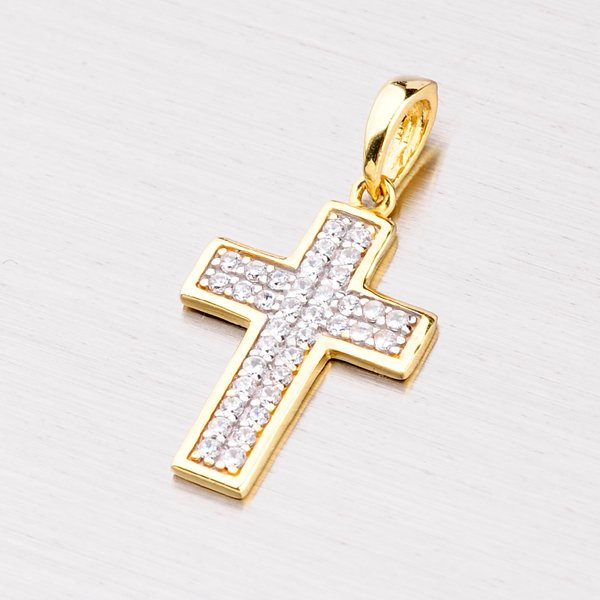 Křížek se zirkony 222-0325