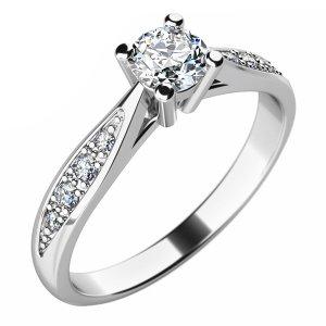 Zásnubní prsten s diamanty ZP-10745D