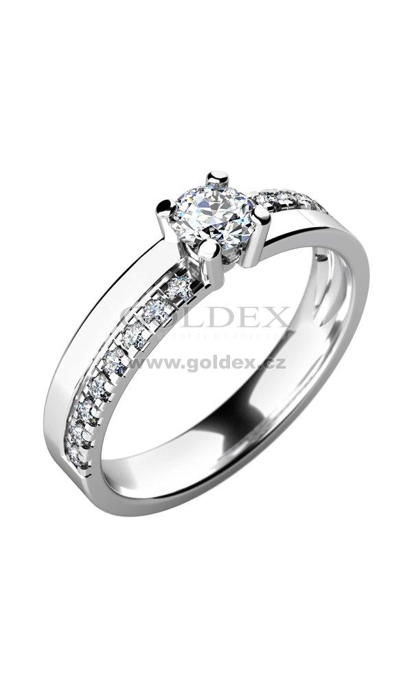 Damsky Prsten S Diamanty 10760d Goldex Cz