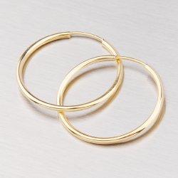 Náušnice ze žlutého zlata 30 mm 233-3004