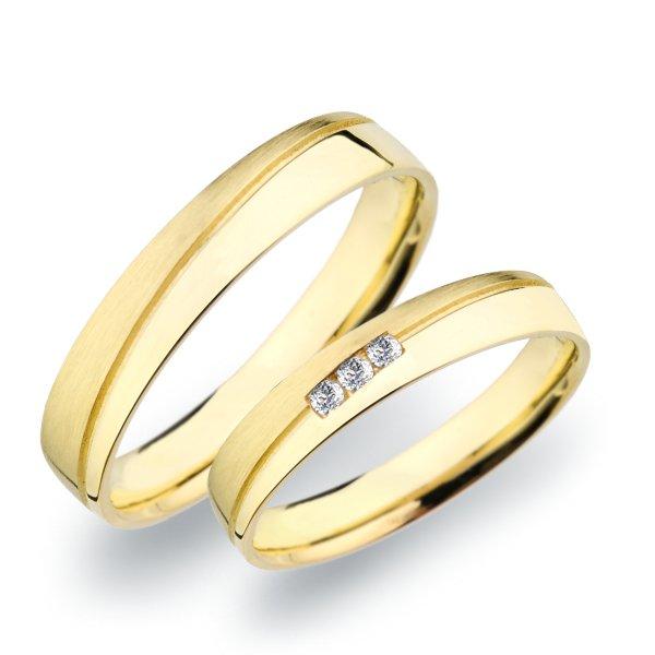SP-279 Snubní prsteny ze žlutého zlata SP-279