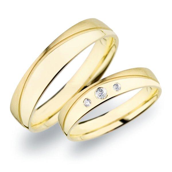 SP-278 Snubní prsteny ze žlutého zlata SP-278