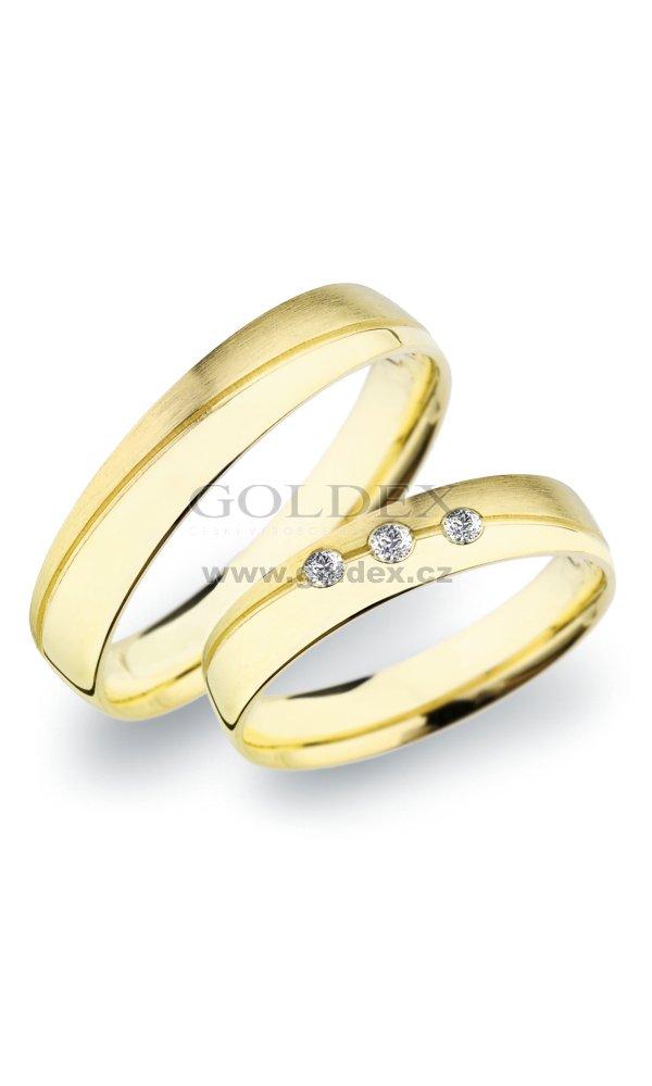 Sp 283 Snubni Prsteny Ze Zluteho Zlata Sp 283 Goldex Cz