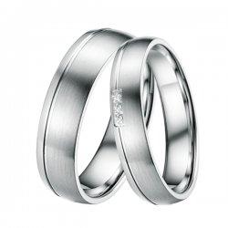 Ocelové snubní prsteny ST-88038