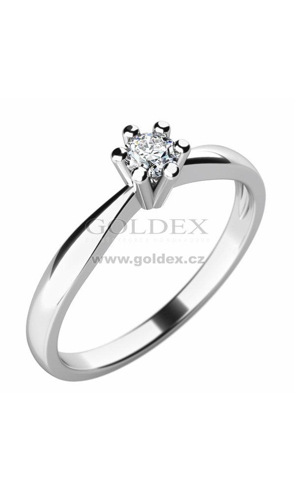 Damsky Prsten S Diamantem 10756d Goldex Cz