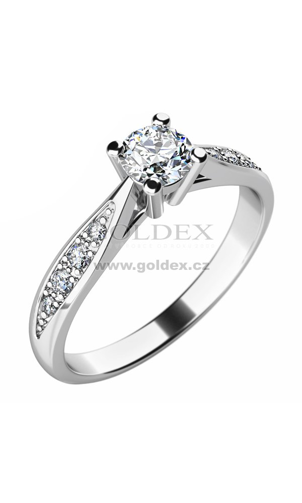Damsky Prsten S Diamanty 10745d Goldex Cz