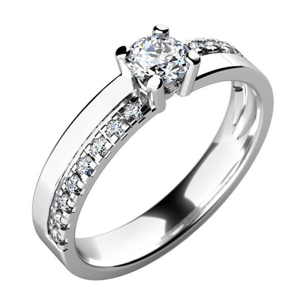 Zásnubní prsten s diamanty ZP-10760D