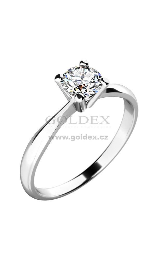 Damsky Prsten S Diamantem 10770d Goldex Cz