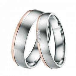 Ocelové snubní prsteny ST-88048