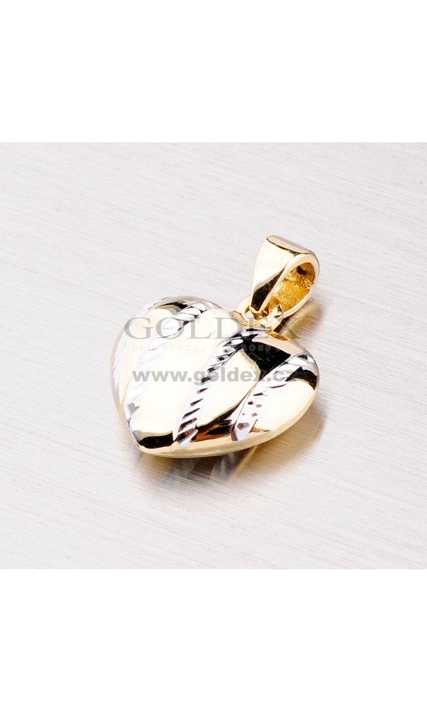 562bdfbda Zlatý přívěsek - srdce 142-0822 : Goldex.cz