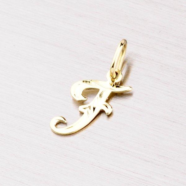 Zlatý přívěsek - písmenko F 2-4002-F