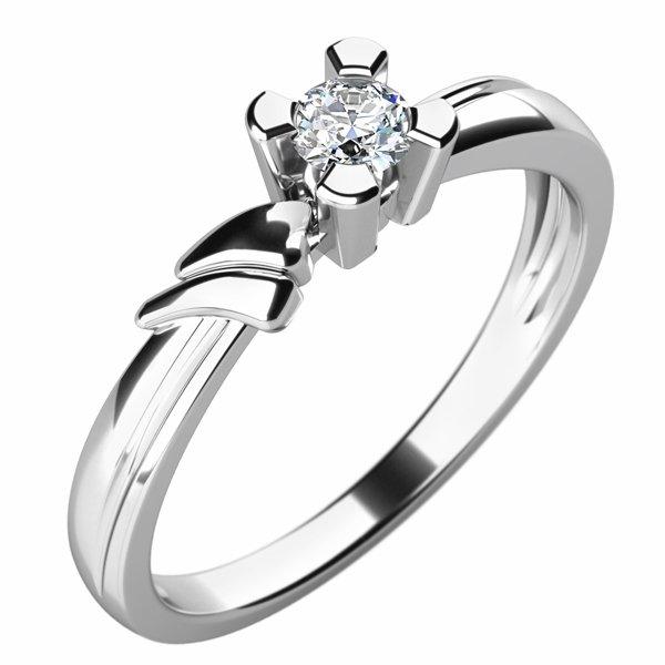 Dámský prsten s diamantem 10754D